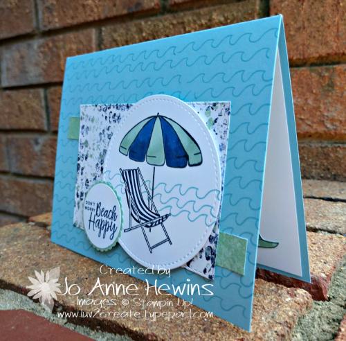 CCMC#556 Beach Happy Card by Jo Anne Hewins