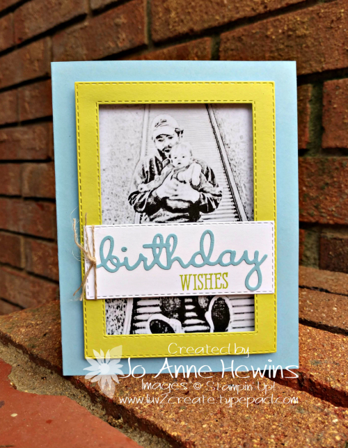 Robby's birthday card with Sagan by Jo Anne Hewins