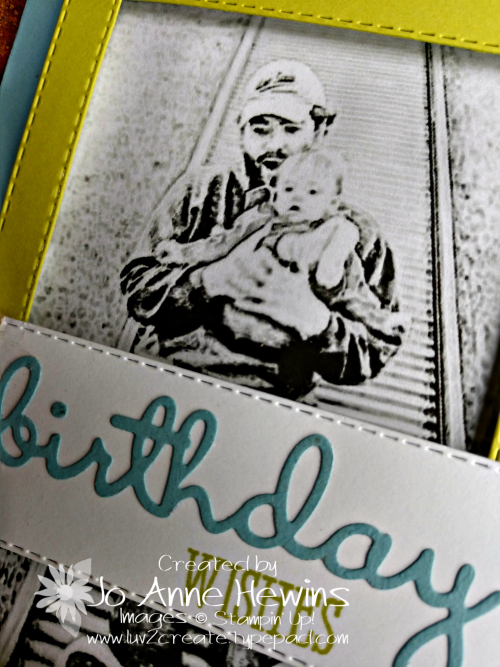 Robby's Birthday Card Close Up by Jo Anne Hewins