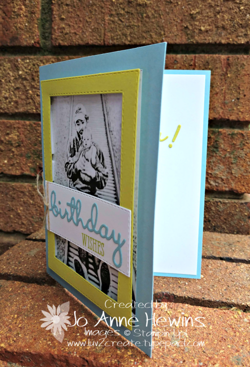 Robby's Birthday card with the Well Said bundle by Jo Anne Hewins
