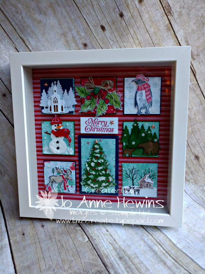 Christmas Sampler 2019 in Frame by Jo Anne Hewins