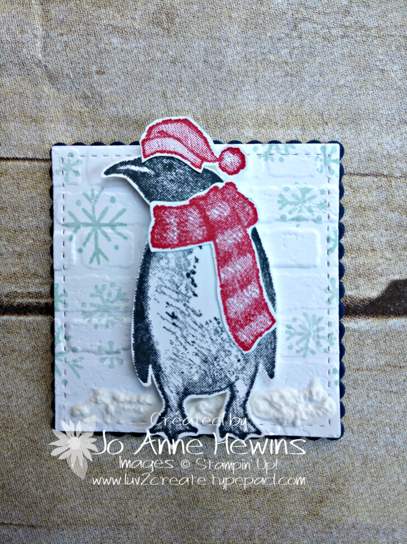 Christmas Sampler Playful Penguins by Jo Anne Hewins
