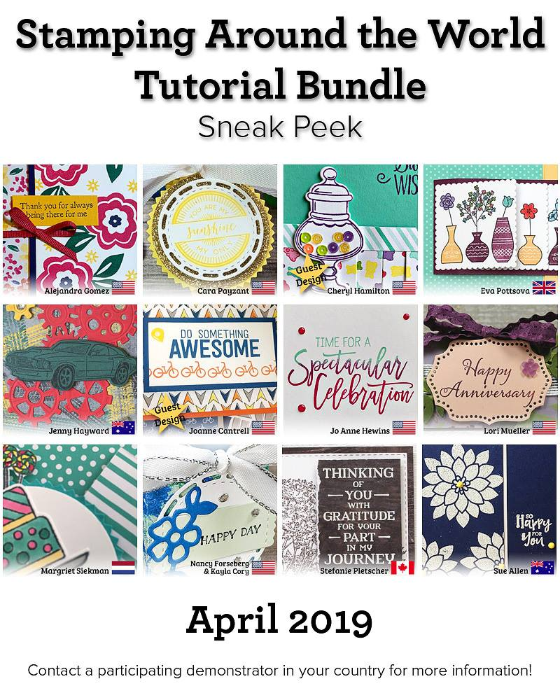 April Stamping Around the World Teaser 3