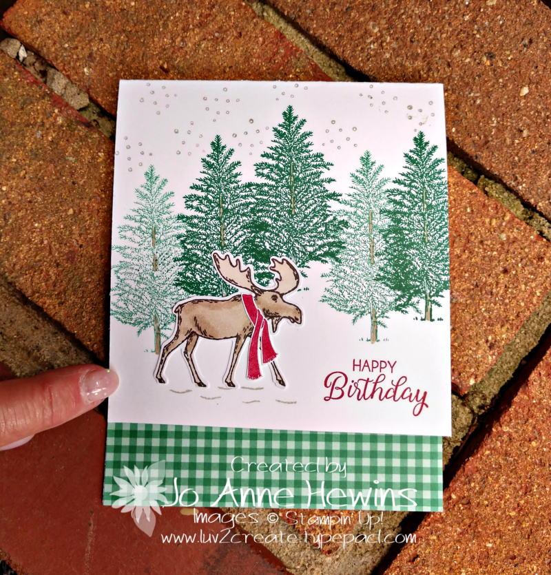 Merry Moose Birthday by Jo Anne Hewins