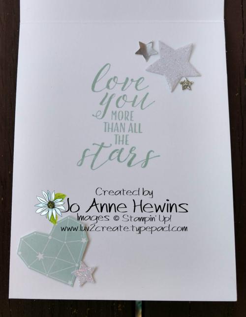 Twinkle Twinkle Little Star Card Inside by Jo Anne Hewins