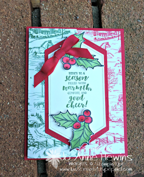 Toile Tidings DSP card by Jo Anne Hewins
