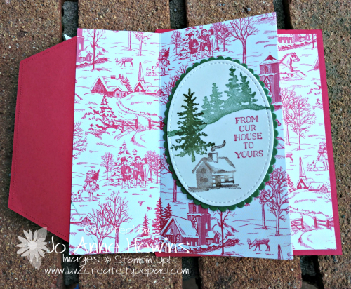 Toile Tidings DSP Open First Layer by Jo Anne Hewins