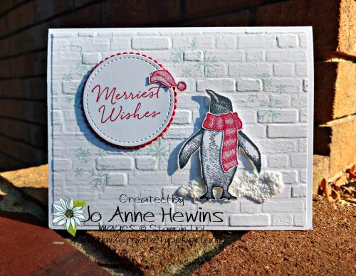 Playful Penguins Gift Card Holder by Jo Anne Hewins