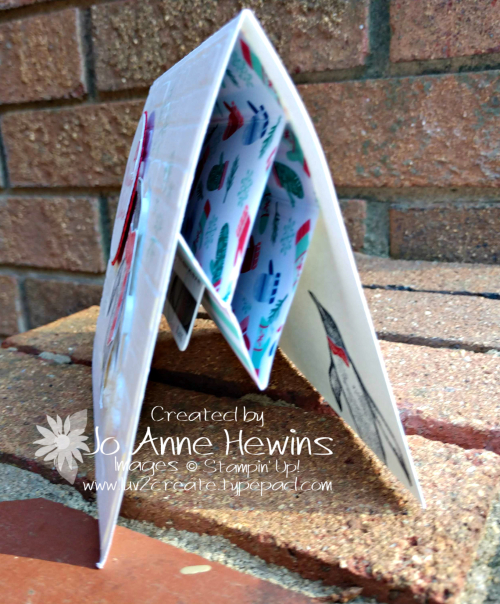 Playful Penguins Gift Card Holder with Side View by Jo Anne Hewins