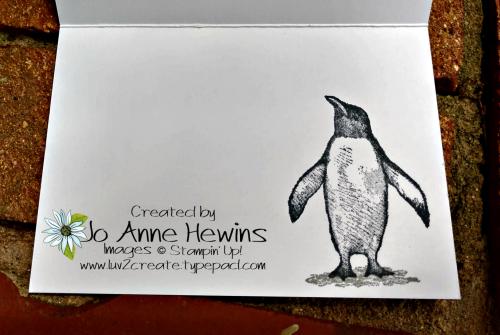 Playful Penguins Note Cards & Envelopes Inside by Jo Anne Hewins