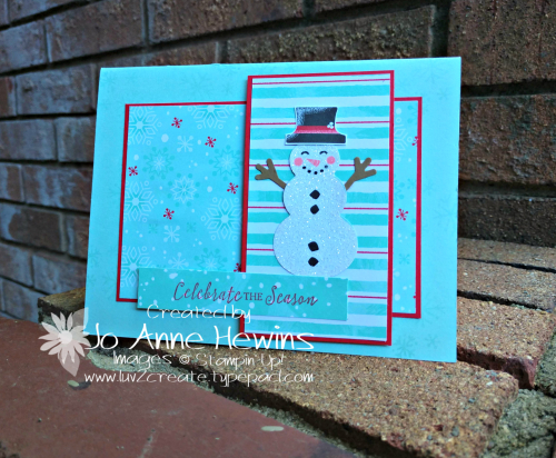 CCMC#578 Let It Snow Specialty DSP Card by Jo Anne Hewins