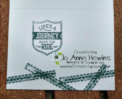 CCMC#560 One Wild Ride Inside of Card by Jo Anne Hewins