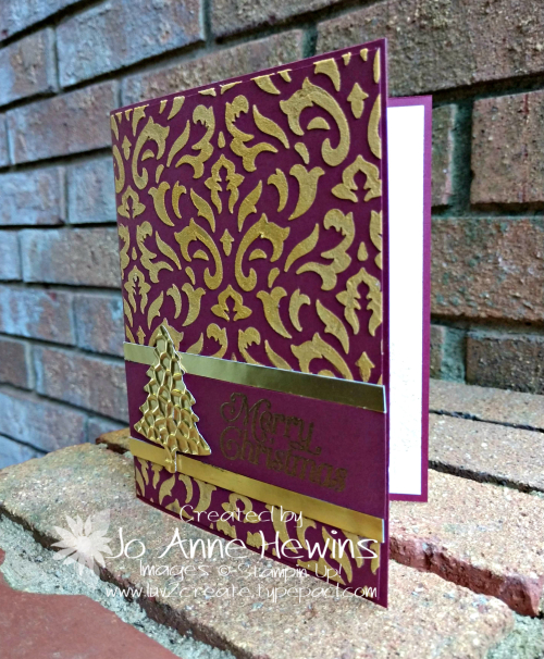 OSAT Gold Embossed Paste Project by Jo Anne Hewins