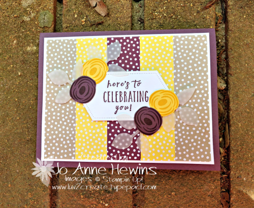 CCMC#561 Perennial Birthday Card by Jo Anne Hewins