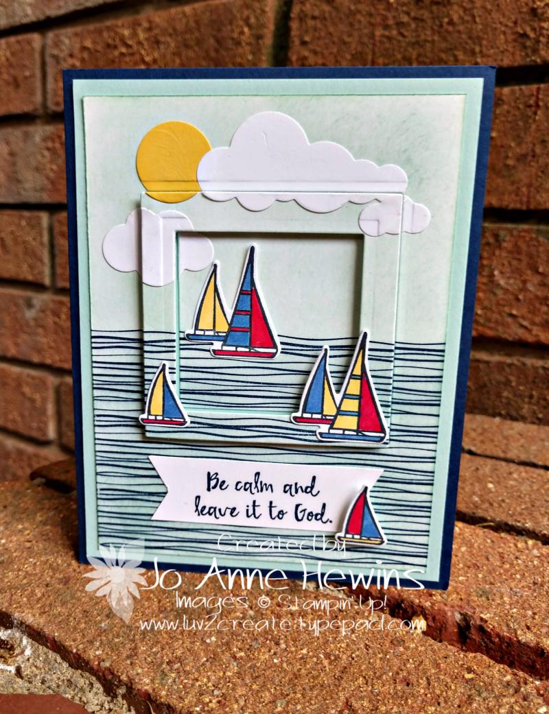 Lilypad Lake Card by Jo Anne Hewins