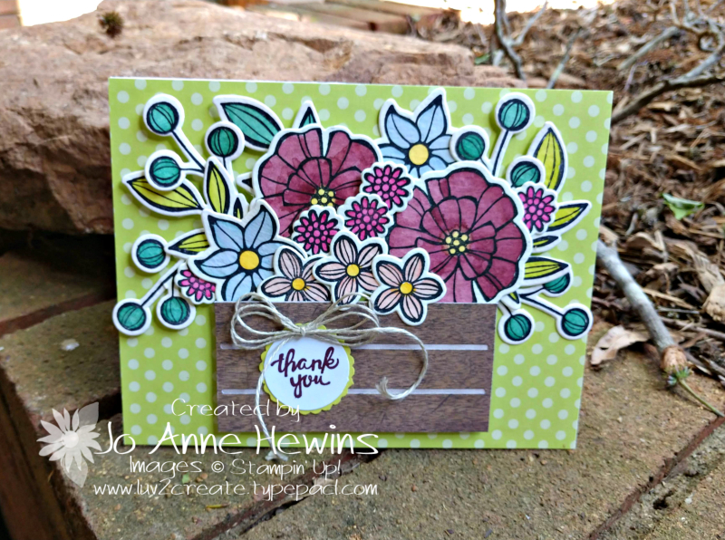 Falling Flowers Goodbye for NC Blog Hop Card by Jo Anne Hewins