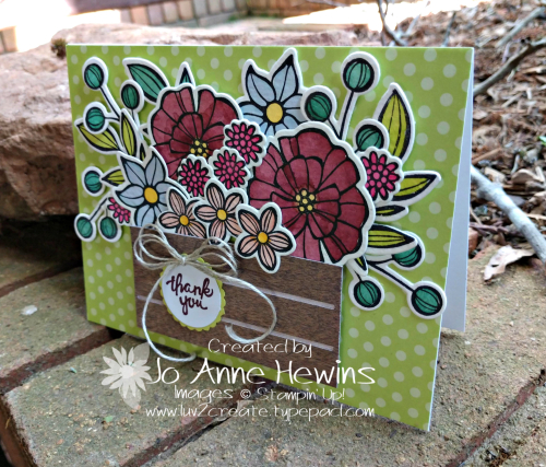 Falling Flowers Goodbye for NC Blog Hop May Card by Jo Anne Hewins