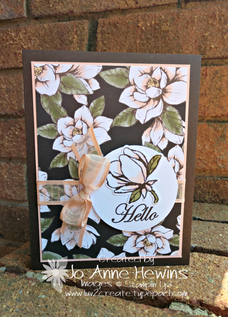 Good Morning  Magnolia for Whisk & Barrel Card by Jo Anne Hewins