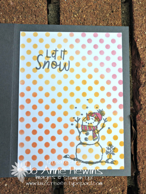 CCMC #579 Snowman Season Inside by Jo Anne Hewins