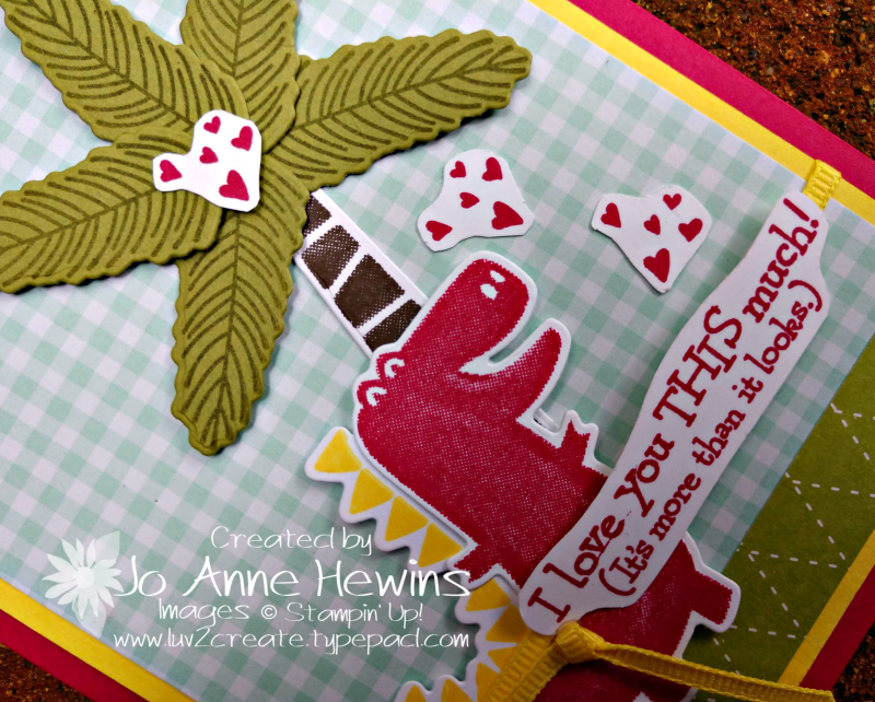 Dino Days Close Up by Jo Anne Hewins