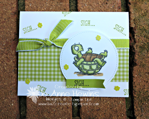 Back on Your Feet Turtle Card by Jo Anne Hewins