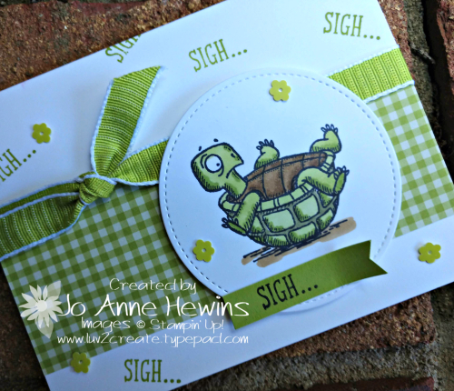 Back on Your Feet Turtle Sigh Card by Jo Anne Hewins
