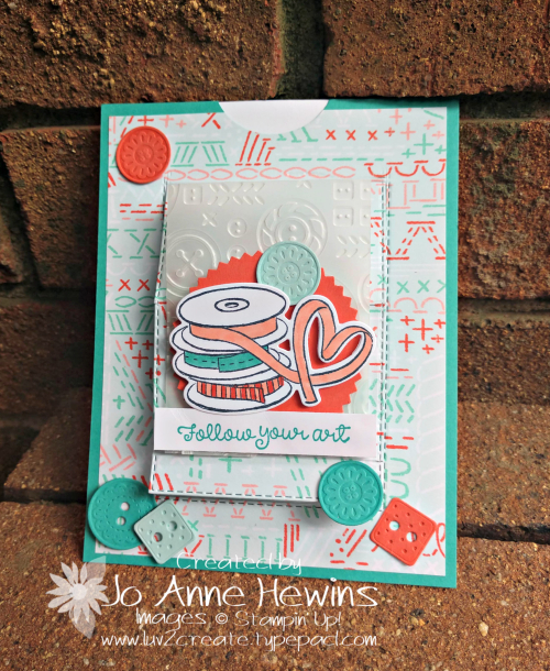 It Starts with Art Pull Card Closed by Jo Anne Hewins