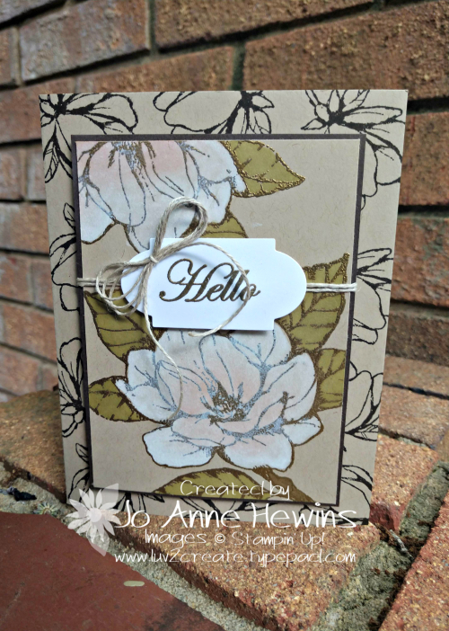 Good Morning  Magnolia Whitewash Card by Jo Anne Hewins