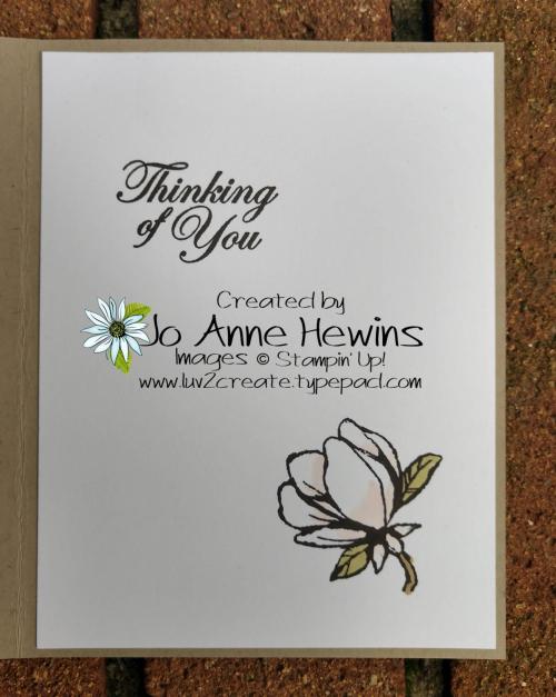 Good Morning  Magnolia Whitewash Inside by Jo Anne Hewins