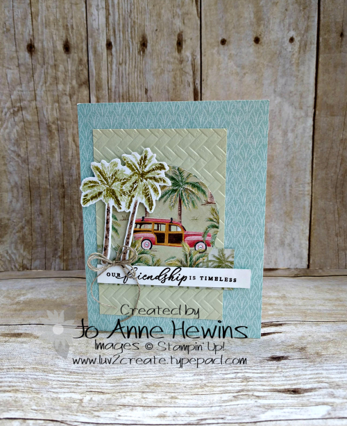 CCMC#598 Timeless Tropical Card by Jo Anne Hewins