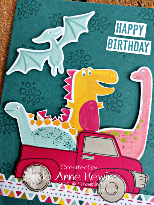 Dino Days and Ride with Me Close Up by Jo Anne Hewins