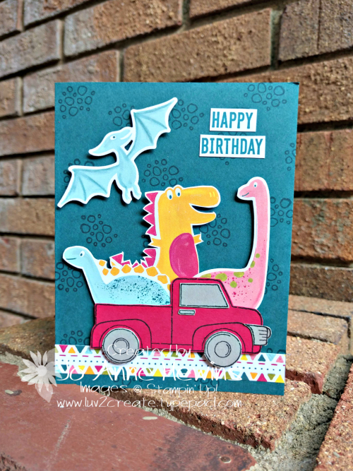 Dino Days and Ride with Me Card by Jo Anne Hewins