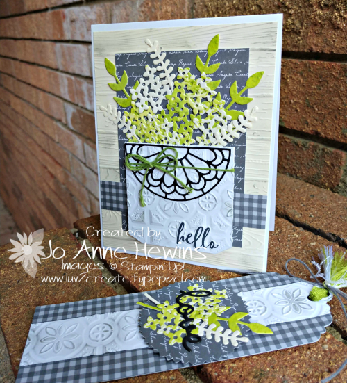 OSAT Down on the Farmhouse Chic Card & Tag by Jo Anne Hewins