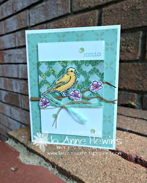 Free Bird Card by Jo Anne Hewins