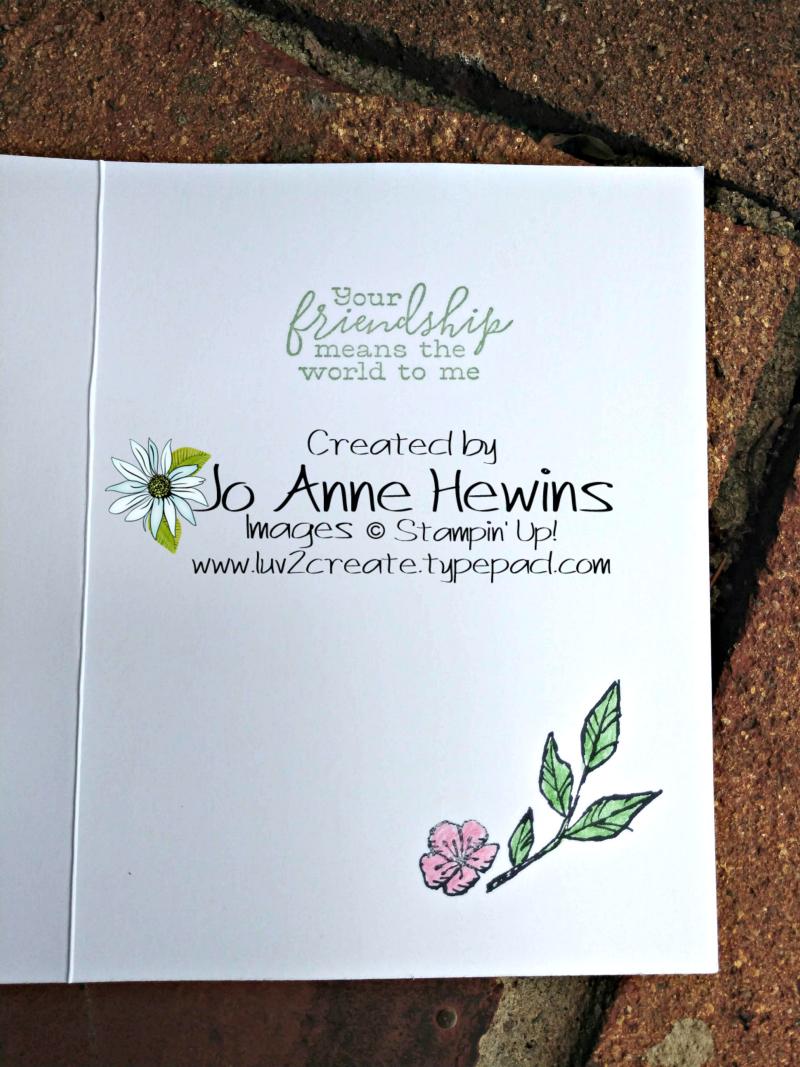 Free Bird Inside of Card by Jo Anne Hewins