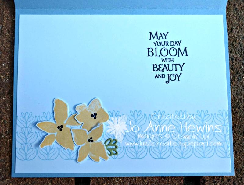 CCMC #584 Parcels & Petals Inside of Card by Jo Anne Hewins