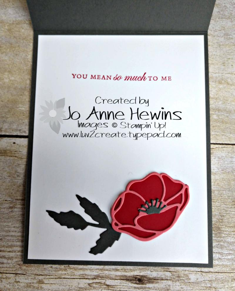 CCMC #599 Poppy Moments Inside of Card by Jo Anne Hewins