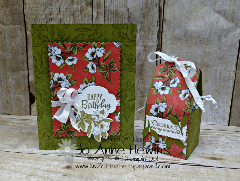OSAT Botanical Prints Card and Treat Box by Jo Anne Hewins