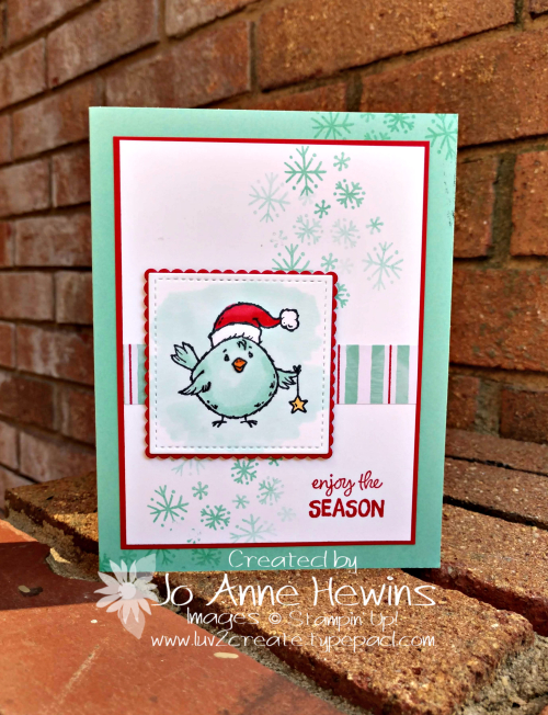 Birds of a Feather for Christmas Card by Jo Anne Hewins