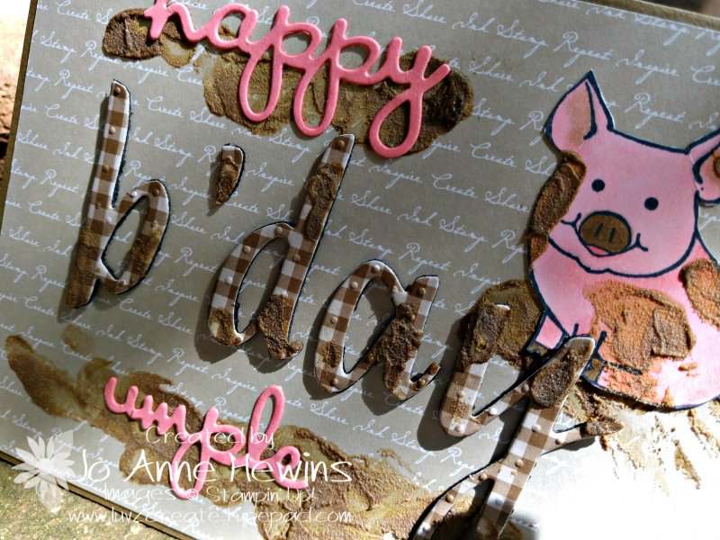 Hand Lettered Birthday Card and This Little Piggy Close Up by Jo Anne Hewins