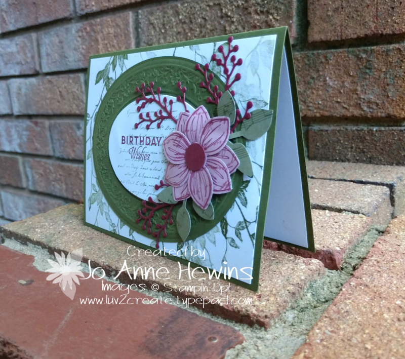 Heirloom Dies and Embossing Folder Perennial Flower by Jo Anne Hewins