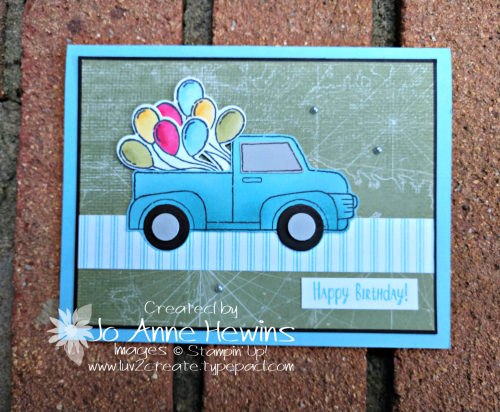 Ride with Me Card by Jo Anne Hewins