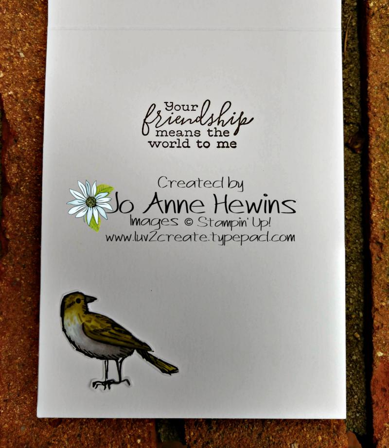 Bird Ballad Inside of Card by Jo Anne Hewins
