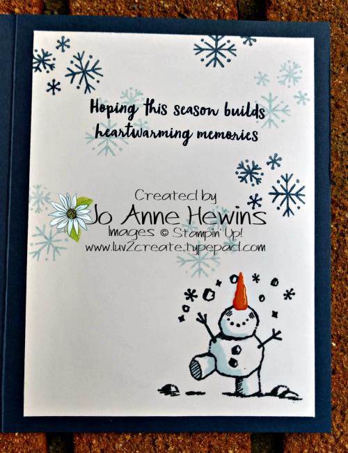 Snowman Season Inside of Medley by Jo Anne Hewins