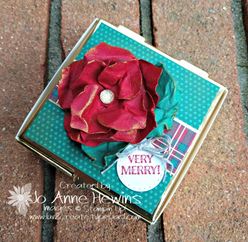 OSAT for November Gleaming Ornaments Punch Pack Gold Pizza Box by Jo Anne Hewins