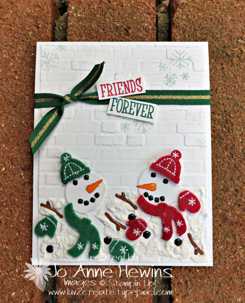 Snowman Season Melting Card by Jo Anne Hewins