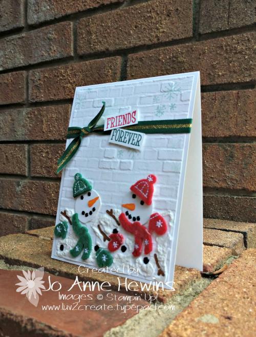 Snowman Season Melting Project by Jo Anne Hewins