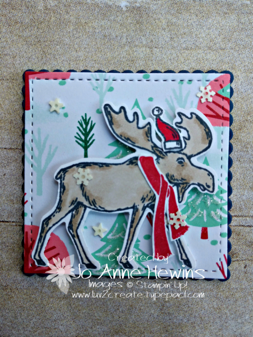 Christmas Sampler Merry Moose by Jo Anne Hewins
