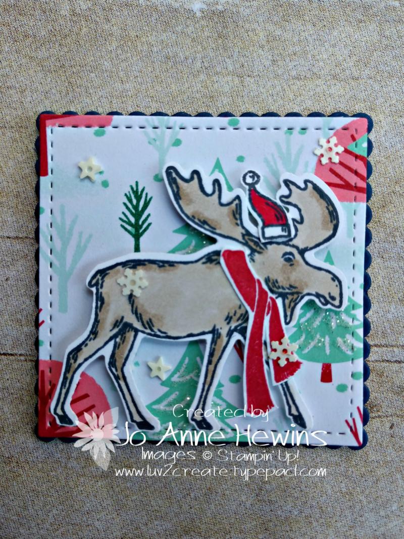 Christmas Sampler Merry Moose by Jo Anne Hewins