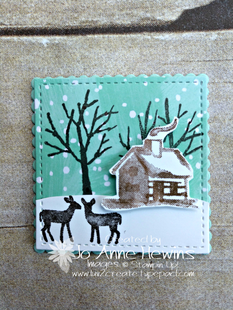 Christmas Sampler Snow Front by Jo Anne Hewins